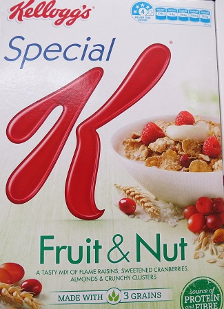 Kelloggs special k fruit and nut